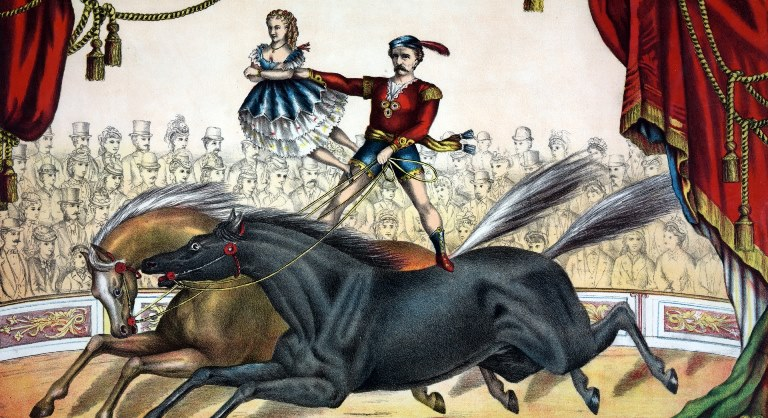 horse-circus-act-painting banner